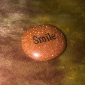 Smile inspirational stone